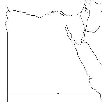 Blank Outline Map Of Egypt Schools At Look - Map of egypt blank
